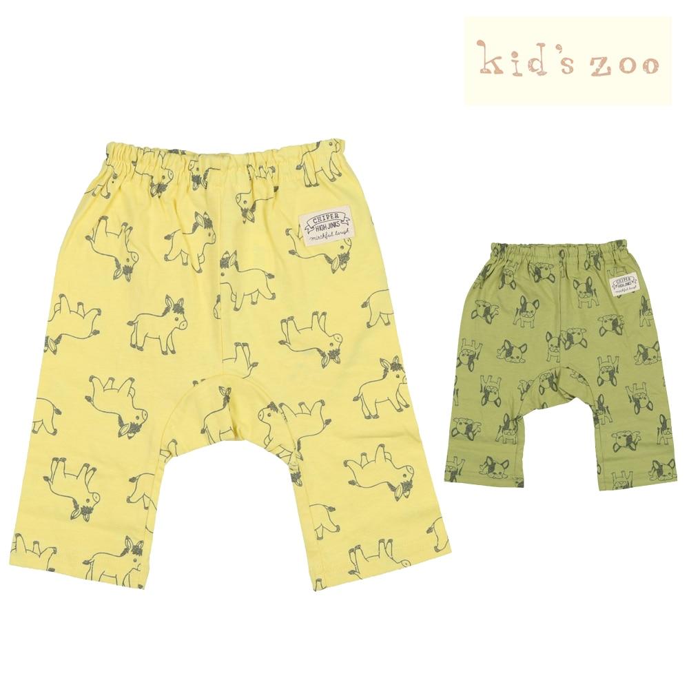 c61c5b92c4aec kids zoo (キッズズー) ロバ&フレンチブルドッグマチ付パンツ 70cm~95cm W11124