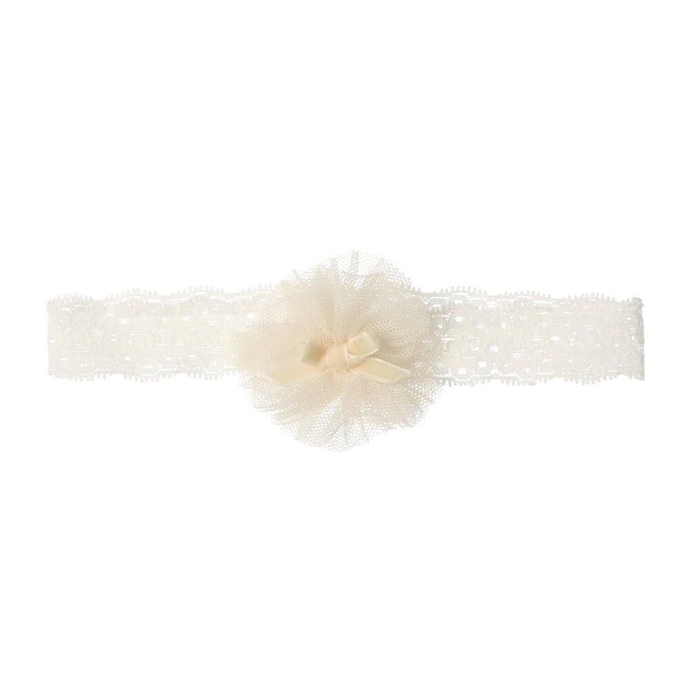 お花チュールベビーヘアバンド・ヘッドドレス