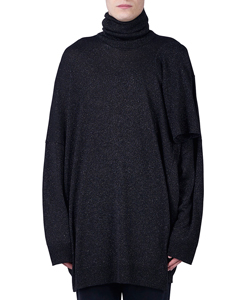 LUREX JERSEY SWEATER WITH 3 TURTLE NECKS