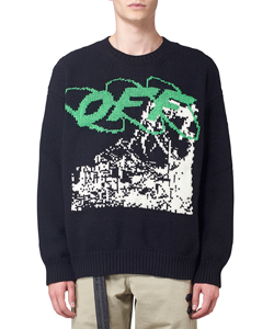 RUINED FACTORY KNIT CREWNECK