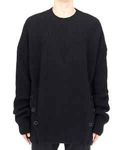 FRONT SIDE BUTTONED CN SWEATER