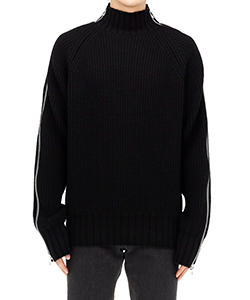 ZIPPED KNIT SWEATER