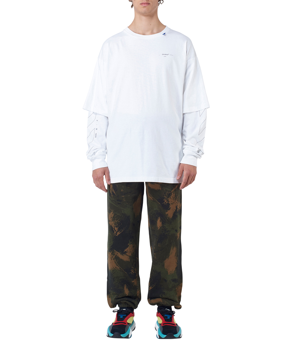 DIAG UNFINISHED D. SLEEVE TEE