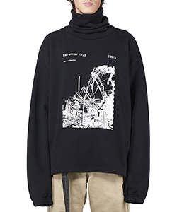 RUINED FAC FUNNEL NECK SWEATS
