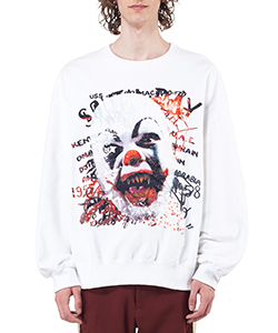 HORROR EMBROIDERY SWEAT SHIRT