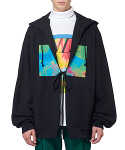 GRAPHIC PRINT OVERSIZED HOODIE