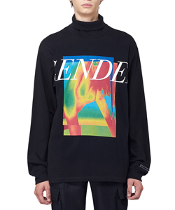 GENDER PRINT TURTLENECK LONG SLEEVE T-SHIRT
