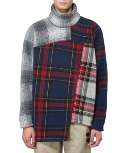 CHECK PATCHWORK TURTLENECK TOPS