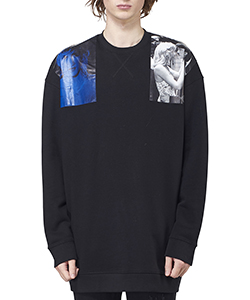 OVERSIZED CREWNECK SWEATER WITH SHOUDER PATCHES
