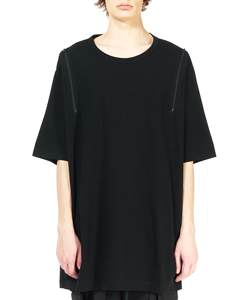 SHOULDER ZIP T-SHIRT