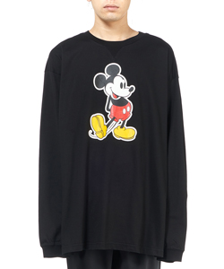 OVERSIZED MICKEY MOUSE CREW NECK L/S TEE. ORIGINAL
