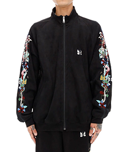 CHAOS EMBROIDERY SUEDE TRACK JACKET