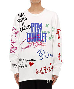 MESSAGE EMBROIDERY LONG SLEEVE T-SHIRT