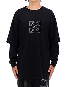 OW LOGO WORK DOUBLE SLEEVE TEE