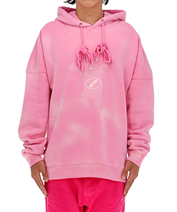 PINK WE11DONE TEDDY HOODIE