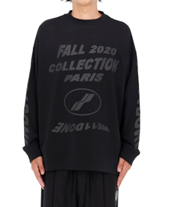 BLACK PF20 COLLECTION LONG SLEEVE T-SHIRT