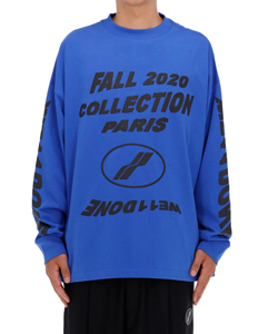 BLUE PF20 COLLECTION LONG SLEEVE T-SHIRT