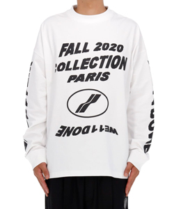 WHITE PF20 COLLECTION LONG SLEEVE T-SHIRT