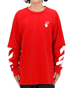 DIAG CUT HERE DOUBLE SLEEVE T