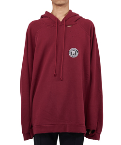 OVERSIZED HOODIE WITH UNIVERSITY BADGE AND PRINT