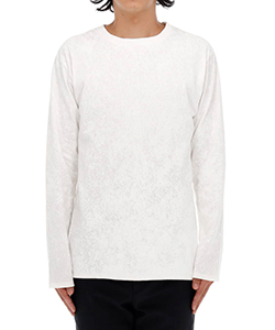WHITEOUT LOGO TEXT LONG SLEEVE T-SHIRT