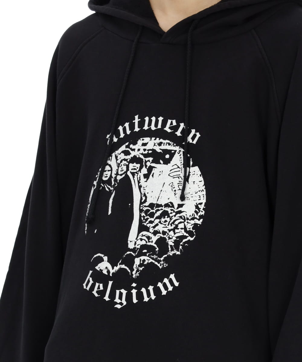 OVERSIZED HOODED SWEATER ANTWERP PRINT