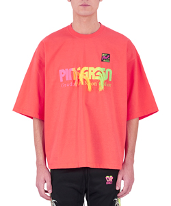GRADATION NEON EMBROIDERY T SHIRT