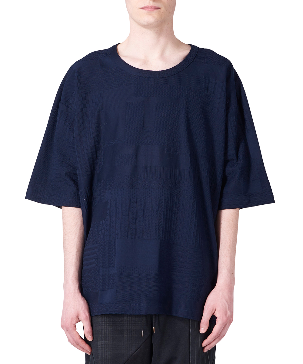 PATCHWORK JACQUARD BIG TEE