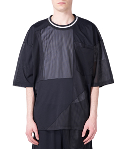 MESH PANEL PATCHWORK BIG TEE
