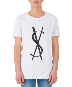 FANCY DOLLAR SS TEE TRU WHITE