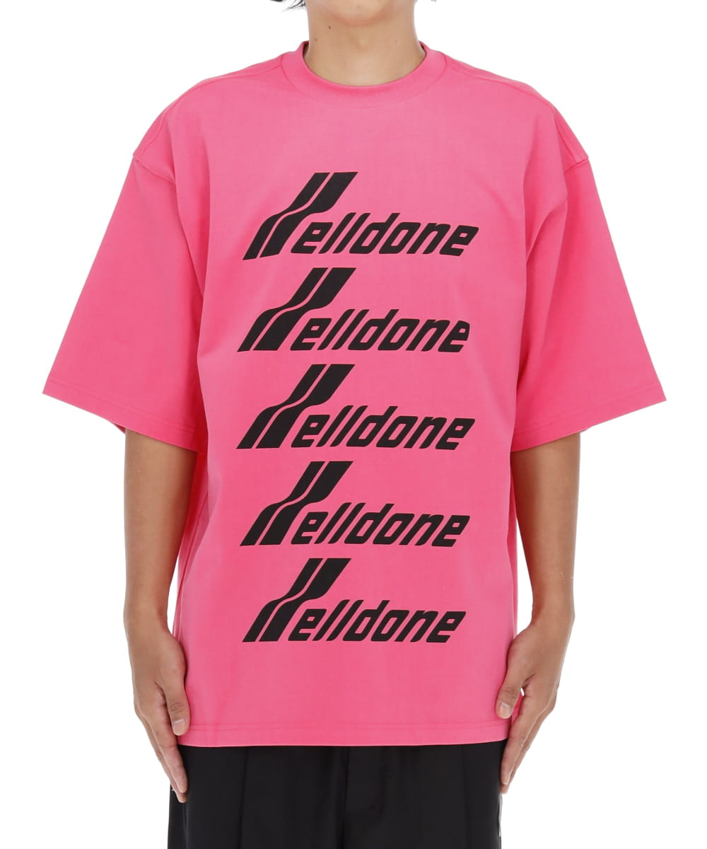 PINK COTTON WELLDONE FRONT LOGO T-SHIRT