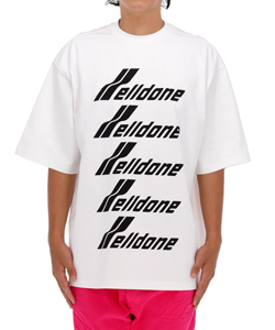 WHITE COTTON WELLDONE FRONT LOGO T-SHIRT