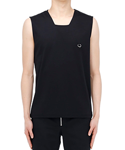 SQUARE NECK SLEEVELESS TOP WITH BODY PIERCING JE