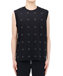 SLEEVELESS TOP WITH BODY PIERCING JEWELRY