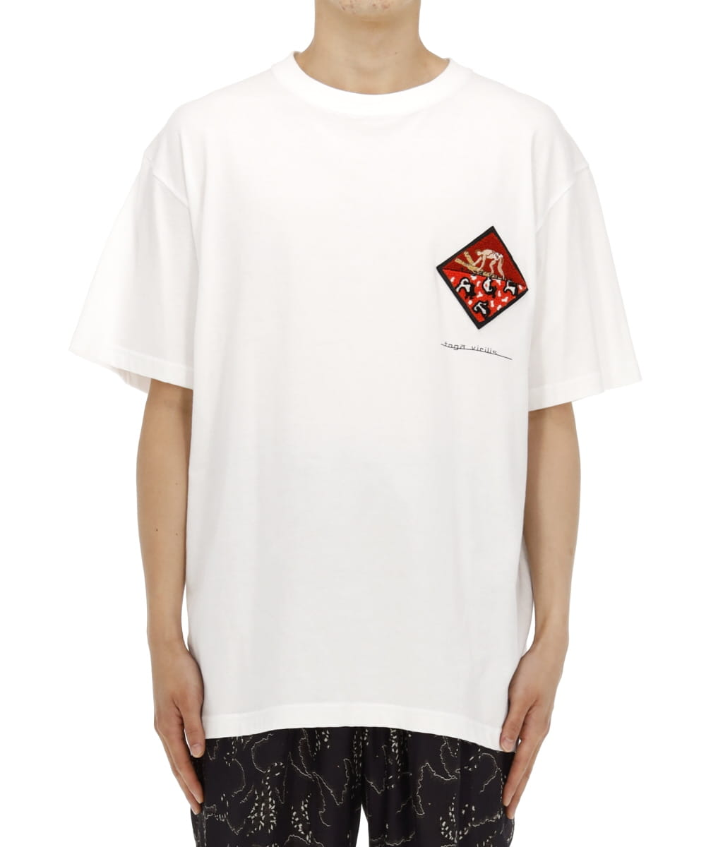 PRINT T-SHIRT S/S WITH PATCH