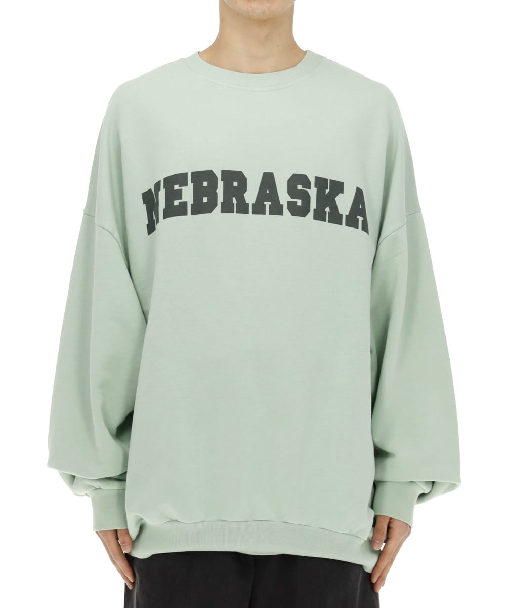 SWEATER WITH NEBRASKA PRINT