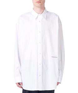 LOGO TEXT EMBROIDERED OVERSIZED SHIRT