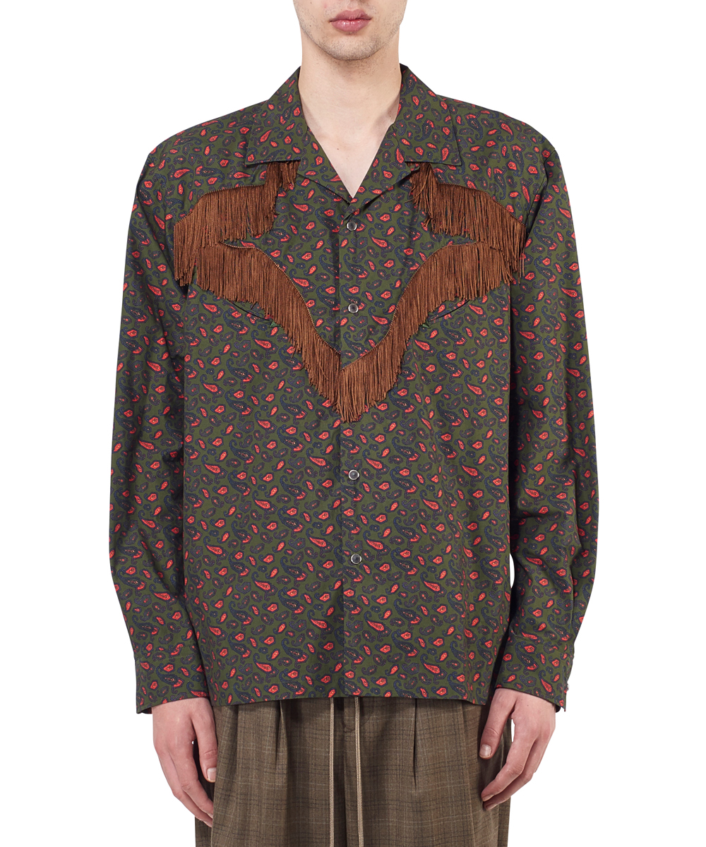 PRINT COTTON WESTERN SHIRT