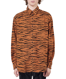 TIGER FLANNEL REGULAR COLLAR SHIRT
