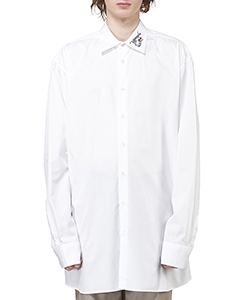 BIG FIT SHIRT WITH EMBROIDERY ON COLLAR