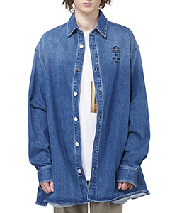 BIG FIT DENIM SHIRT WITH EMBROIDERY
