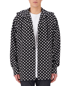 DOT HOODED SHIRT