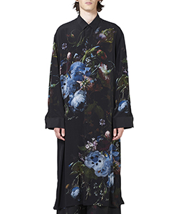 DECHINE FLOWER LONG SHIRT
