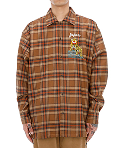 PUPPET ANIMAL EMBROIDERY CHECK SHIRT