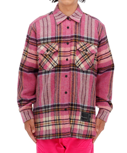 WD PINK CHECK WOOL SHIRT