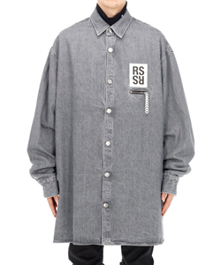 BIG FIT SHIRT WITH ZIPPED POCKET
