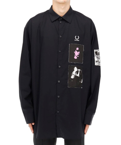 OVER SIZED PRINTED PATCH SHIRT