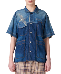 DR. WOO DENIM SHORT SHIRT