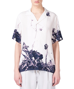 ARAKI PRINT STAND OPEN-COLLAR SHIRT