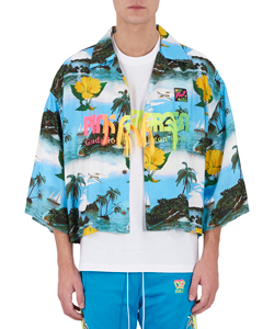 GRADATION NEON EMBROIDERY SHIRT